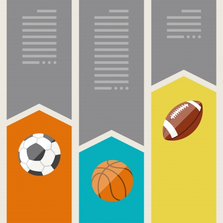 Sports infographics optional banners. Vector