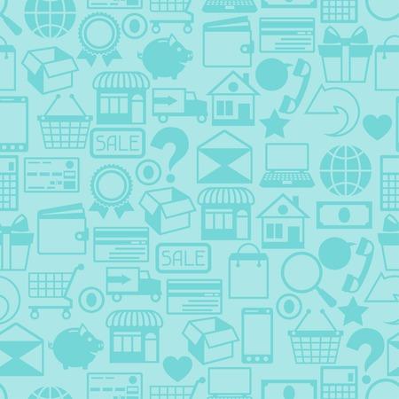 phone box: Internet shopping seamless pattern.
