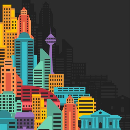 abstract city: Cityscape background with buildings.