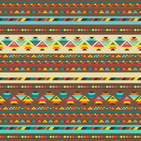 ネイティブなスタイルでの民族のシームレスなパターン。  イラスト・ベクター素材