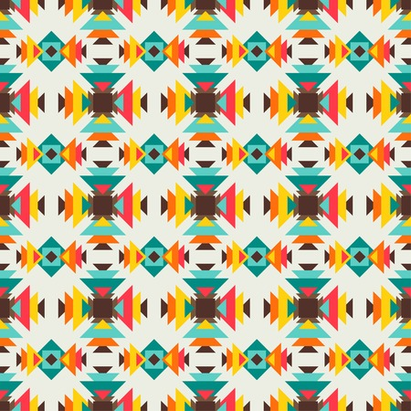 native american indian: Ethnic seamless pattern in native style.