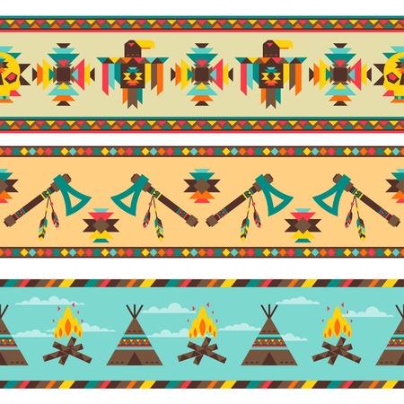 indigenas americanos: Patr�n transparente en estilo �tnico nativo.