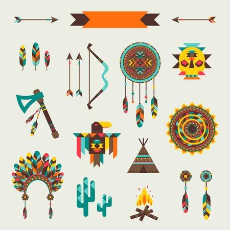 indio americano: Patr�n transparente en estilo �tnico nativo.