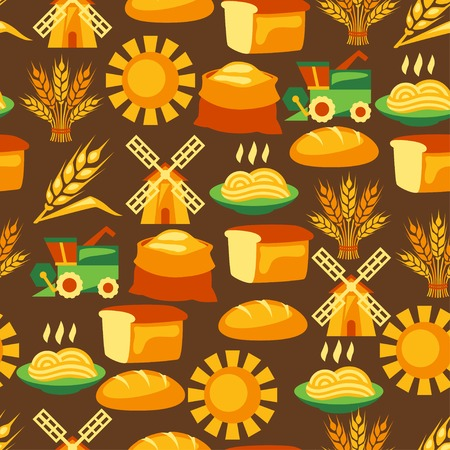 agriculture industry: Seamless pattern with agricultural objects.