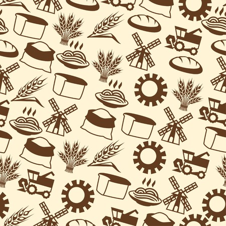 agriculture wallpaper: Seamless pattern with agricultural objects.