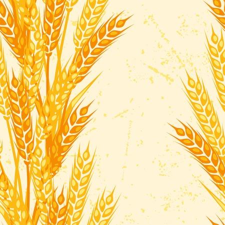 Naadloos patroon met oren van tarwe. Vector Illustratie