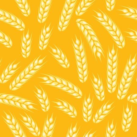 Seamless pattern with ears of wheat. Vector