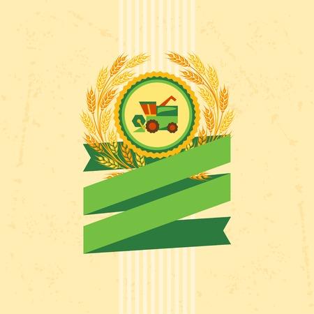 produits céréaliers: Fond avec l'étiquette pour le produit céréalier.