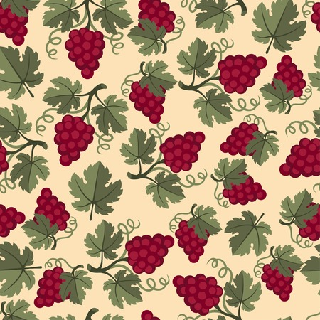 Seamless pattern with grapes. Vector