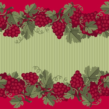 grape juice: Seamless pattern with grapes. Illustration