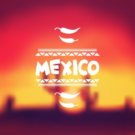 Ethnic mexican background design in native style. Illustration
