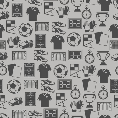 score board: Sports seamless pattern with soccer (football) icons.
