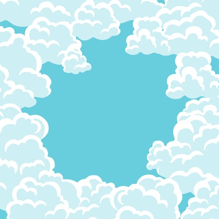 fluffy clouds: Abstract background card with sky and clouds.