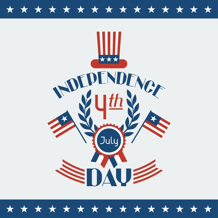 United States of America Independence Day greeting card. Vector