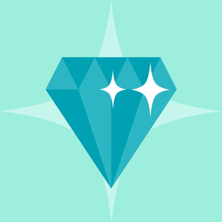 Abstract diamond concept illustration in flat style.