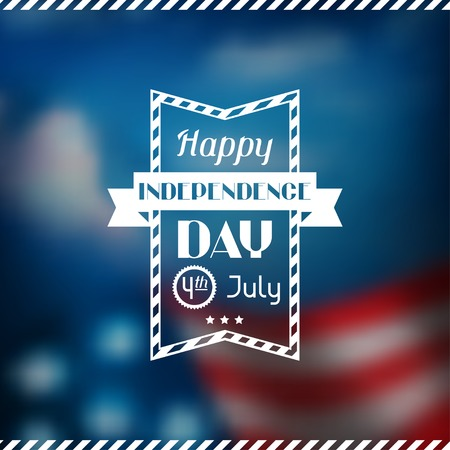the concept of independence: United States of America Independence Day greeting card.