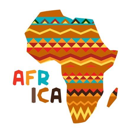 Origen étnico africano con la ilustración del mapa adornado. Ilustración de vector