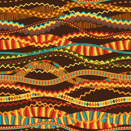 indigenous culture: Ethnic ornament abstract geometric seamless fabric pattern