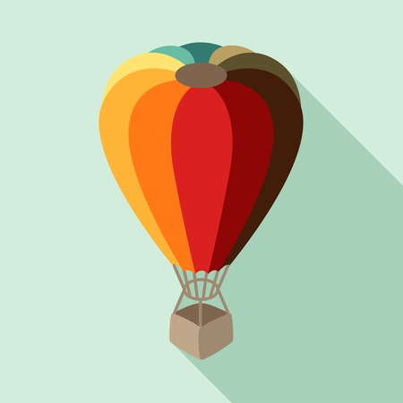air sport: Hot air balloon in flat design style.