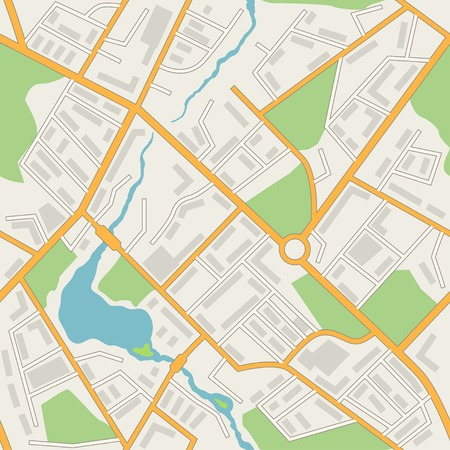 city park: City map abstract seamless pattern Illustration