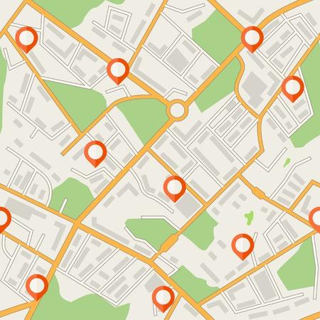 City map abstract seamless pattern Çizim