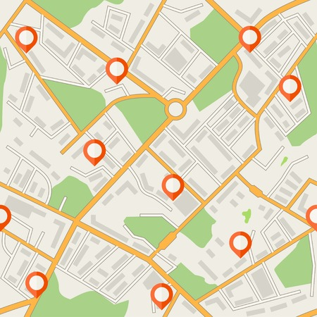 Stadsplattegrond abstract naadloos patroon Stock Illustratie