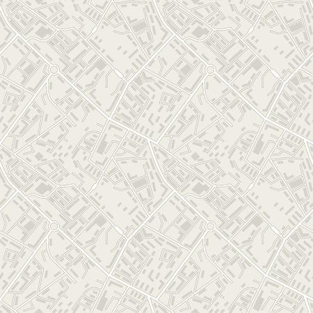 topografia: Mapa de la ciudad sin patrón abstracto