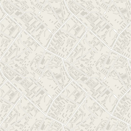 City map abstract seamless pattern Illustration