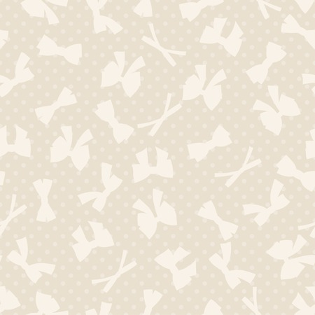 ribbons and bows: Seamless pattern with abstract various bows and ribbons  Illustration