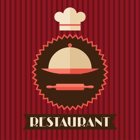 platter: Restaurant menu background in flat design style  Illustration