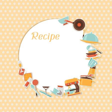 recipe background: Recipe background with kitchen and restaurant utensils