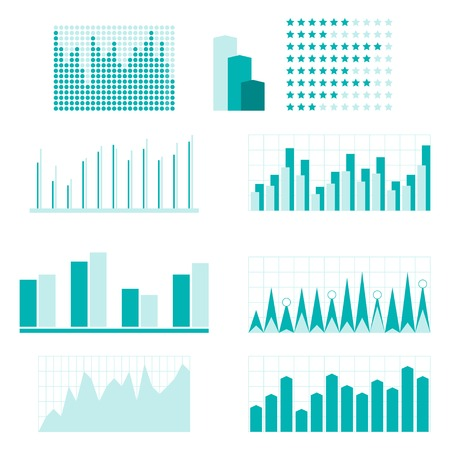 analytic: Set of infographic diagram elements for design  Illustration