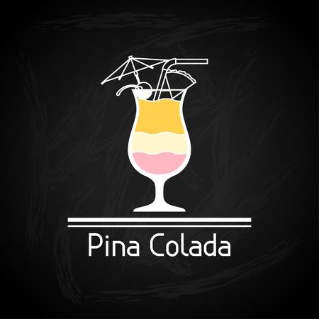 mojito: Illustration with glass of mojito for menu cover  Illustration