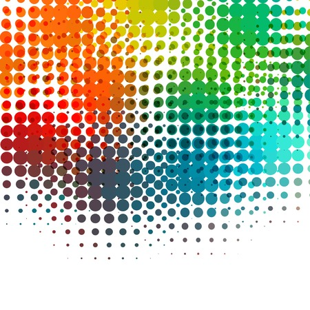 Disco background with halftone dots in retro style. Vector