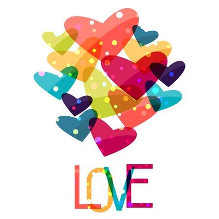 Valentine holiday saint background with shiny hearts.