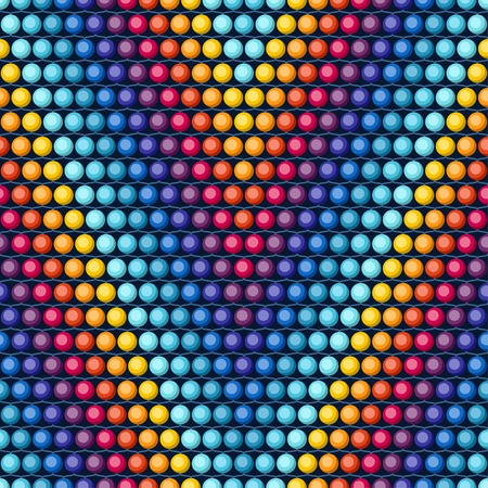 Ethnic african beads abstract color seamless pattern. Vector