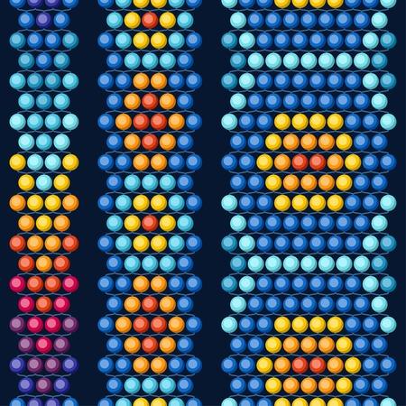 민족적인 아프리카 구슬 추상적 인 색 원활한 패턴. 일러스트