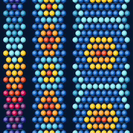 native culture: Ethnic african beads abstract color seamless pattern.