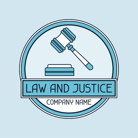 prosecutor: Diritto e societ� di giustizia nome concetto emblema. Vettoriali
