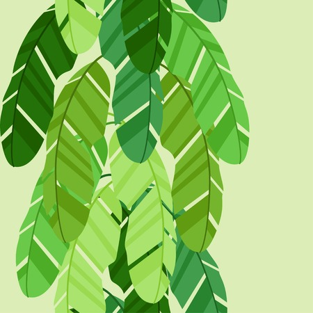 banana leaf: Seamless tropical pattern with stylized banana palm leaves. Illustration