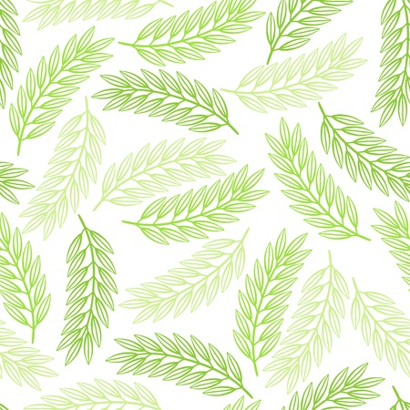 Seamless pattern design with stylized abstract leaves. Ilustração