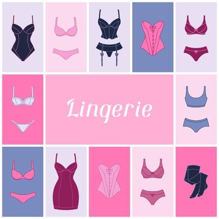 suspender: Fashion lingerie background design with female underwear.