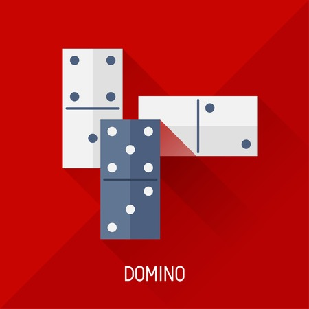 sport background: Game illustration with domino in flat design style. Illustration