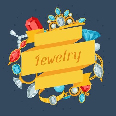 pietre preziose: Set di bellissimi gioielli e pietre preziose.