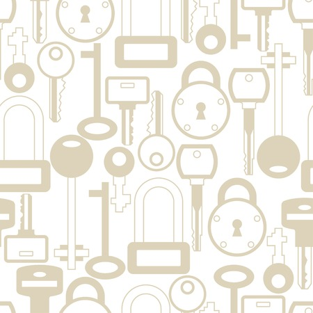 locks: Seamless pattern with locks and keys icons.