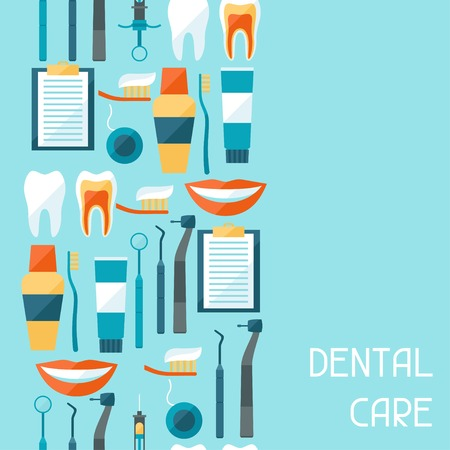 dentist drill: Medical seamless pattern with dental equipment icons.