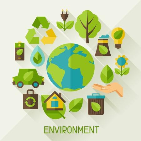 生態背景環境的圖標。