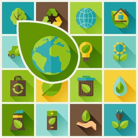 Ecologie fond avec des icônes de l'environnement.