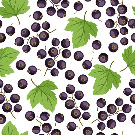 currants: Seamless nature pattern with black currants.