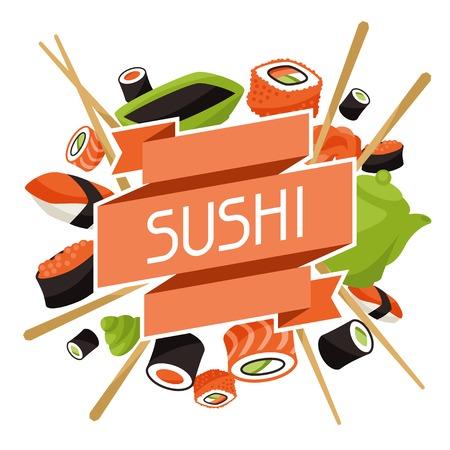 sushi menu: Background with sushi.